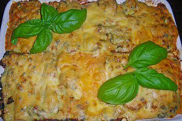 Lasagne mit Spinat und Hackfleisch