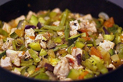 Rezeptbild zum Rezept Gemüse-Puten-Pfanne