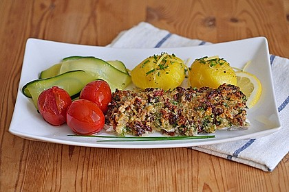 Rezeptbild zum Rezept Seelachs mit Tomatenkruste