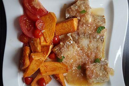 Rezeptbild zum Rezept Rotbarsch mit Süßkartoffeln