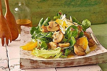 Rezeptbild zum Rezept Salat mit Honigchampignons