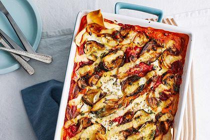 Rezeptbild zum Rezept Leichte Lasagne mit Hüttenkäse