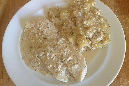 Rezeptbild zum Rezept Pangasius auf Gurkengemüse