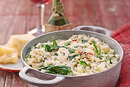 Rezeptbild zum Rezept Risotto mit Spinat und Gorgonzola