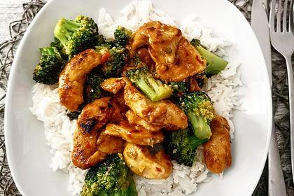 Rezeptbild zum Rezept Brokkoli-Honig-Hähnchen