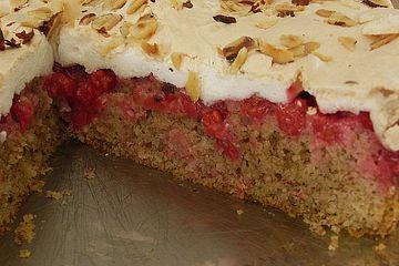Johannisbeer -  Nuss Kuchen